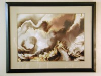 Thunderhead, framed and on display